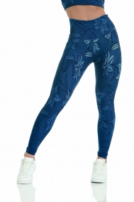 Leggings Double Face Sleek Sense Blau